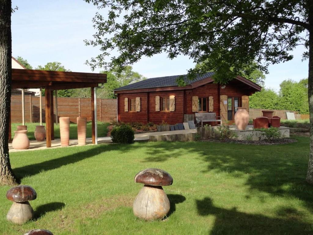 jardin cabane