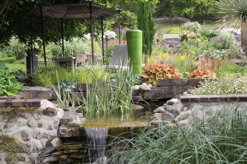 jardin rivière