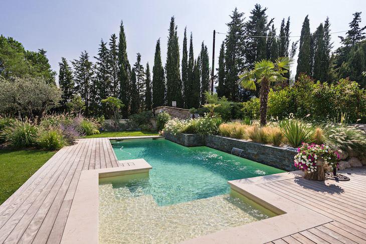 piscine jardin Reflexion paysage