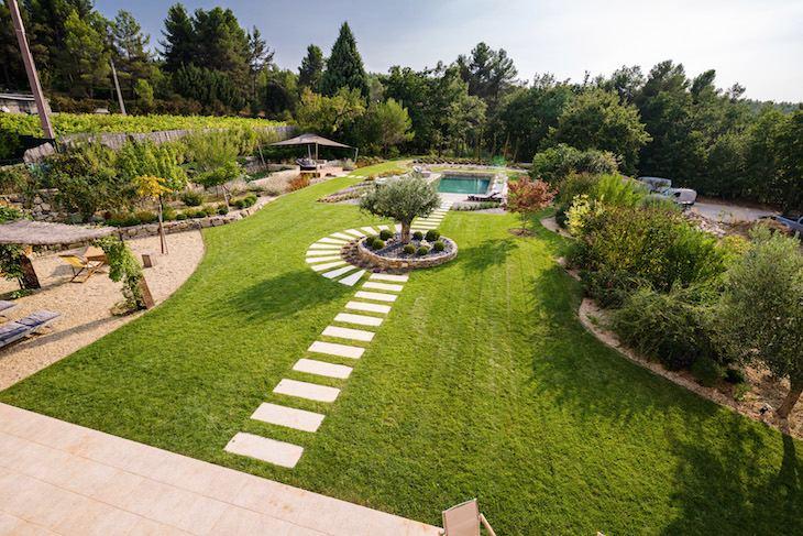 jardin piscine Reflexion paysage
