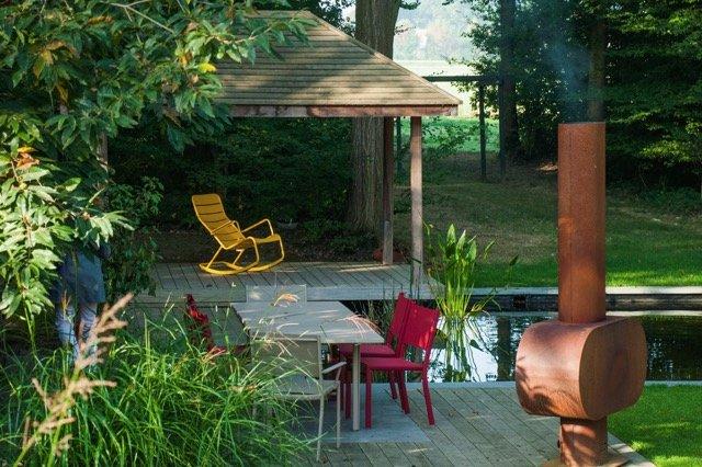 terrasse bassin Jardins de la Vallée