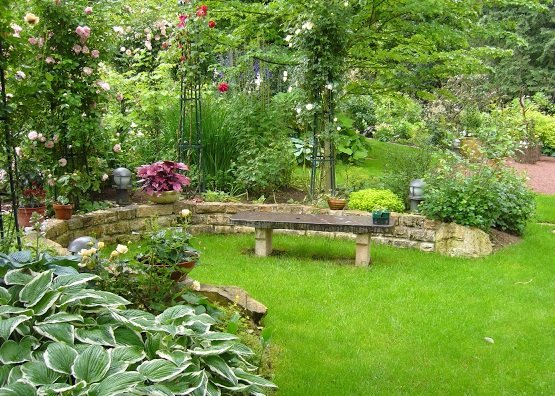 jardin banc Baratet Paysage