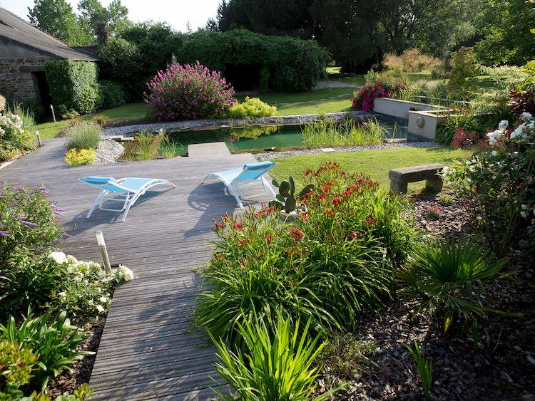 Piscine jardin paysagiste ERIC LEQUERTIER