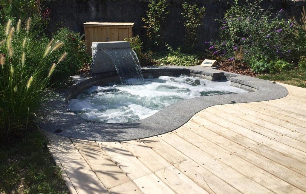 piscine nature jardin bois